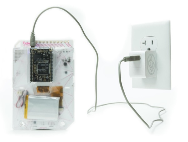 image of PocketC.H.I.P. with cable plugged in